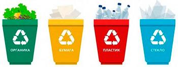 Раздельный сбор мусора не внедрен